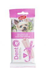 """Жевательный снек Biff """"Dent"""" для собак малых пород со вкусом креветок, чистка зубов"""