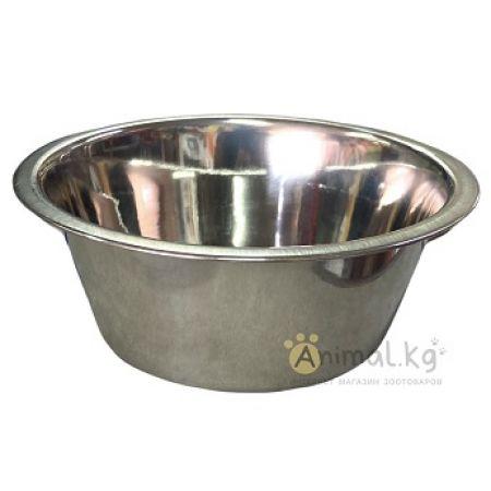 Миска металлическая с резиновым кольцом 0,7 л.