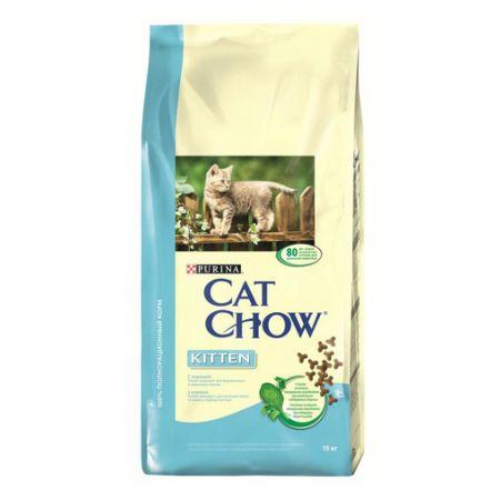 Cat Chow Kitten сухой корм для котят всех пород, с курицей