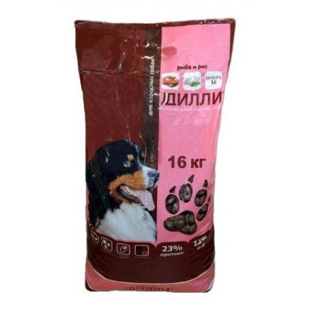Дилли Рагу из рыбы с рисом, сухой корм для взрослых собак