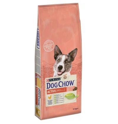 Dog Chow Adult Active для взрослых активных собак всех пород, энергия и выносливость, с курицей