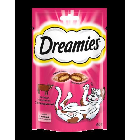 Dreamies лакомство для взрослых кошек с говядиной