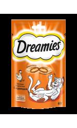 Dreamies лакомство для взрослых кошек с курицей
