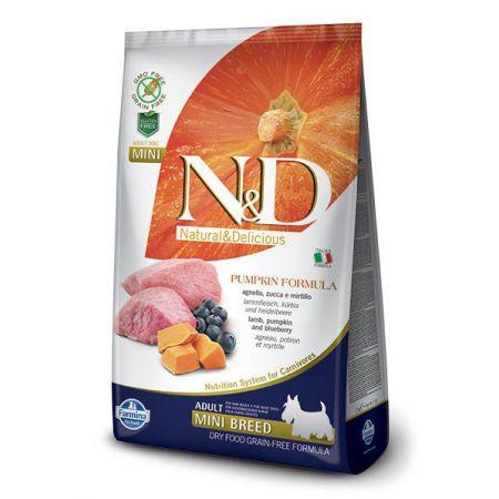 Farmina N&D Dog GF Pumpkin Lamb & Blueberry Adult Mini беззерновой корм для взрослых собак малых пород, ягненок с черникой и тыквой