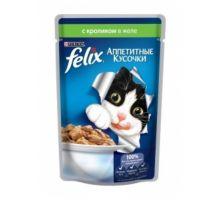 Felix влажный корм для взрослых кошек всех пород, с кроликом в желе