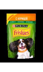 Friskies корм консервированный для взрослых собак, с курицей в подливе