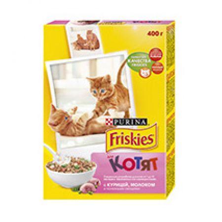 Friskies Junior сухой корм для котят всех пород, курица с овощами