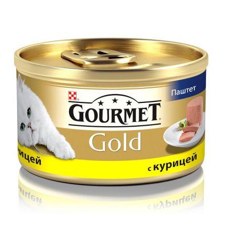 Gourmet консервы для взрослых кошек всех пород, паштет из курицы