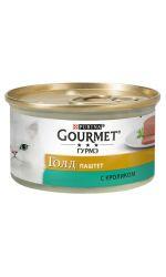 Gourmet консервы для взрослых кошек всех пород, паштет из кролика