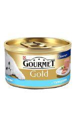 Gourmet консервы для взрослых кошек всех пород, паштет из тунца