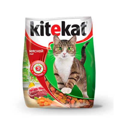 """Kitekat """"Мясной пир"""" сухой корм для кошек"""