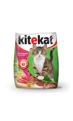 Kitekat телятинка аппетитная сухой корм для кошек