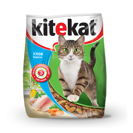 Kitekat Улов рыбака сухой корм для кошек
