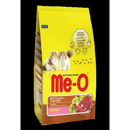 Me-O Kitten сухой корм для котят всех пород с говядиной и овощами