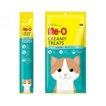 Me-O кремовое лакомство для кошек с атлантической пеламидой