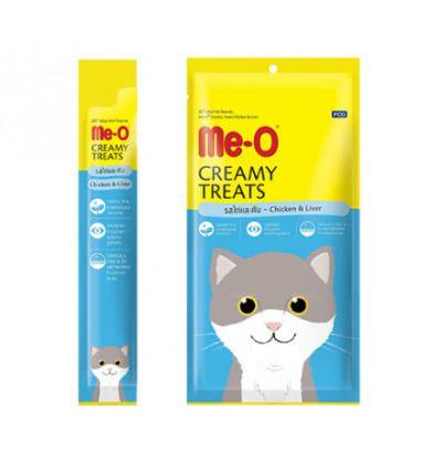 Me-O кремовое лакомство для кошек с курицей и печенью