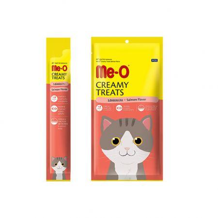 Me-O кремовое лакомство для кошек с мясом лосося