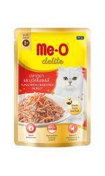 Me-O Delite влажный корм - лакомство для взрослых кошек всех пород с кусочками тунца и краба