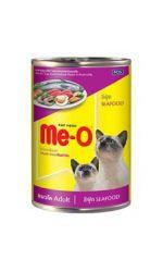 Me-O консервы для взрослых кошек всех пород c морепродуктами
