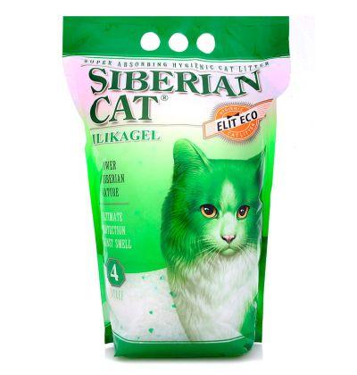 Наполнитель Сибирская Кошка силикагелевый ЭЛИТА (зеленые гранулы)