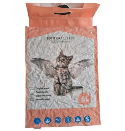 Наполнитель Тофу (соевые волокна) с запахом персика