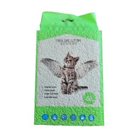 Наполнитель Тофу (соевые волокна) с запахом зеленого чая