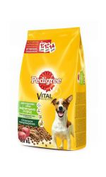 Pedigree сухой корм для взрослых собак маленьких пород с говядиной, Vital Protection