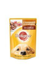Pedigree влажный корм для взрослых собак всех пород с говядиной и ягненком в соусе