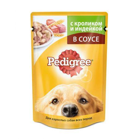 Pedigree влажный корм для взрослых собак всех пород с кроликом и индейкой в соусе