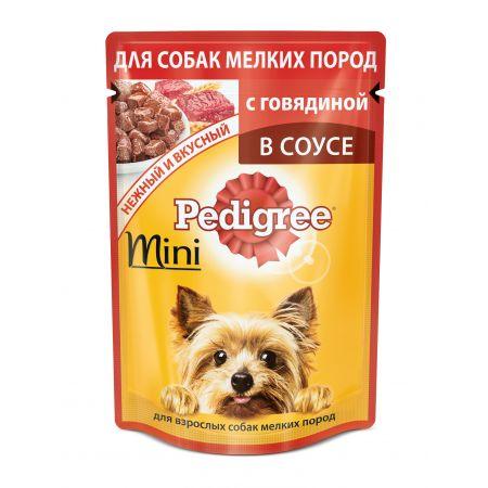 Pedigree влажный корм для взрослых собак мелких пород,с говядиной