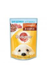 Pedigree влажный корм для щенков всех пород с говядиной в соусе
