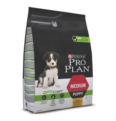 Pro Plan Medium Puppy Optistart сухой корм для щенков средних пород, с курицей