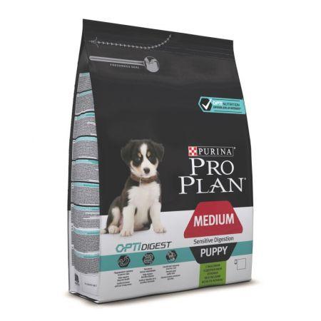 Pro Plan Medium Pupy Optidigest сухой корм для щенков средних пород с чувствительным пищеварением, с ягненком