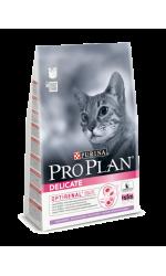Pro Plan Delicate сухой корм для кошек c чувствительным пищеварением, с индейкой