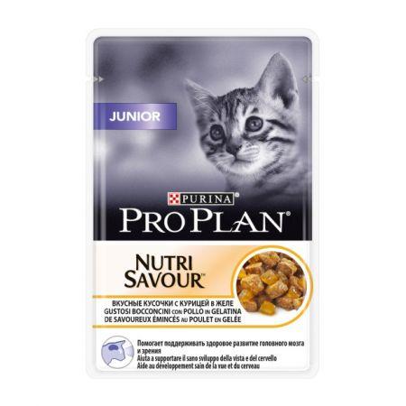 Pro Plan Nutrisavour Junior для котят, с курицей в желе