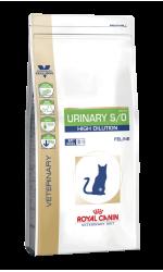 Royal Canin URINARY S/O HIGH DILUTION 34 диета для кошек при заболеваниях дистального отдела мочевыделительной системы