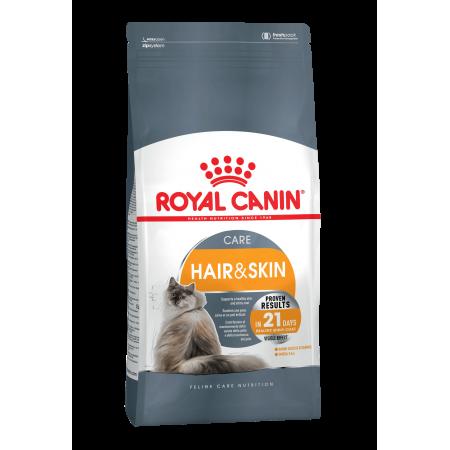 Royal Canin HAIR & SKIN CARE для взрослых кошек в целях поддержания здоровья кожи и шерсти