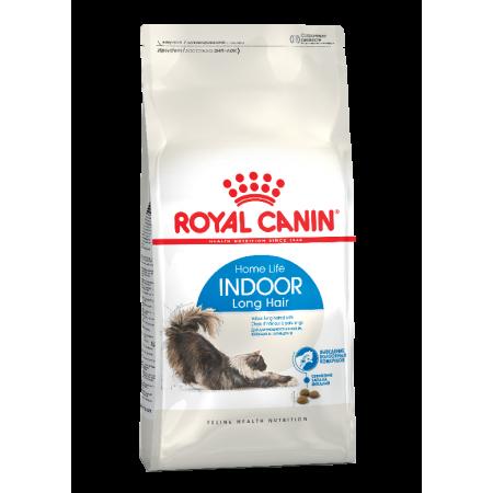 Royal Canin INDOOR LONG HAIR сухой корм для взрослых длинношерстных кошек всех пород, живущих в помещении