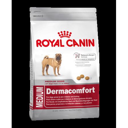 Royal Canin MEDIUM DERMACOMFORT сухой корм для собак средних размеров, при аллергии, зуде, раздражении