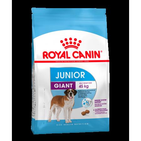 Royal Canin GIANT JUNIOR сухой корм для щенков собак очень крупных размеров в возрасте с 8 до 18/24 месяцев.