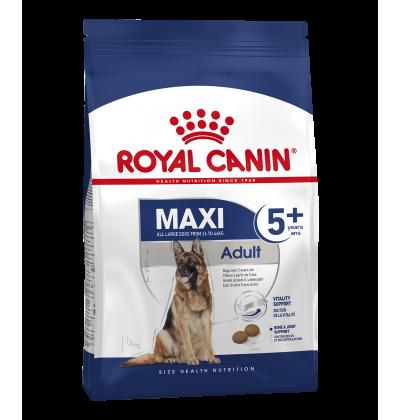 Royal Canin MAXI ADULT 5+ корм для стареющих собак крупных размеров в возрасте от 5 до 8 лет.