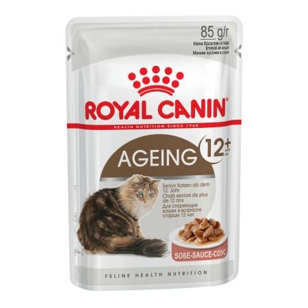 Royal Canin AGEING +12 влажный корм для кошек старше 12 лет всех пород, мясо в соусе