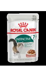 Royal Canin INSTINCTIVE +7 in gravy влажный корм для взрослых кошек старше 7 лет всех пород, в соусе