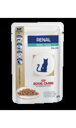 Royal Canin RENAL WITH TUNA влажный корм для взрослых кошек всех пород, при почечной недостаточности, тунец