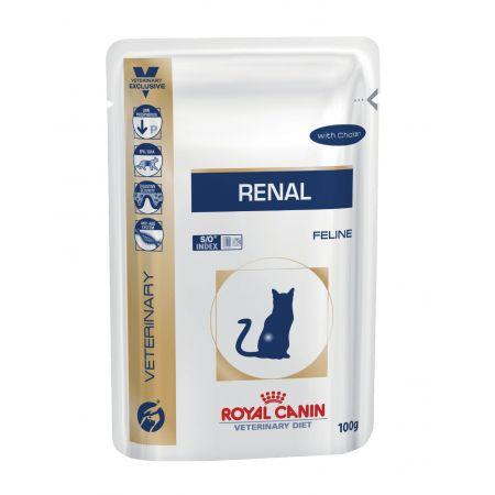 Royal Canin RENAL WITH CHICKEN влажный корм для взрослых кошек всех пород, при почечной недостаточности, курица