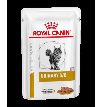 Royal Canin URINARY S/O влажный корм для взрослых кошек всех пород, при заболеваниях дистального отдела мочевыделительной системы, курица в соусе