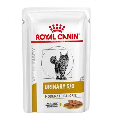 Royal Canin URINARY S/O MODERATE CALORIE диета для кошек после кастрации/стерилизации или при избыточном весе, или при лечении мочекаменной болезни, в соусе