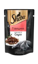 Sheba Pleasure влажный корм для взрослых кошек всех пород, говядина