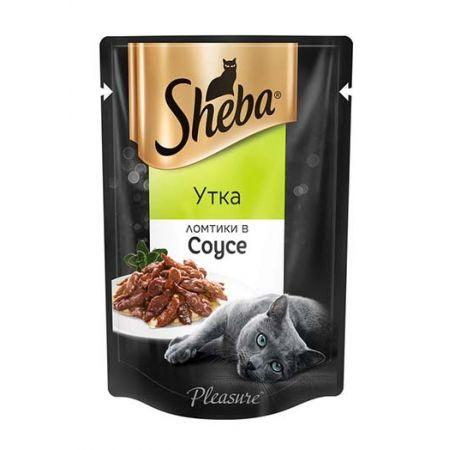 Sheba Pleasure влажный корм для взрослых кошек всех пород, утка