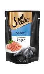 Sheba Pleasure влажный корм для взрослых кошек всех пород, лосось